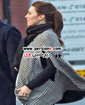 لباس بارداری کیت میدلتون و حرکت فرزندش برای اولین بار !