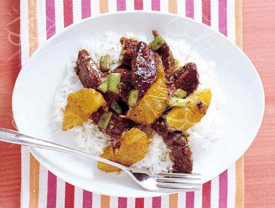 طرز تهیه خوراک گوشت و پرتقال ، به سبک چینی ها خوراک سرو کنید