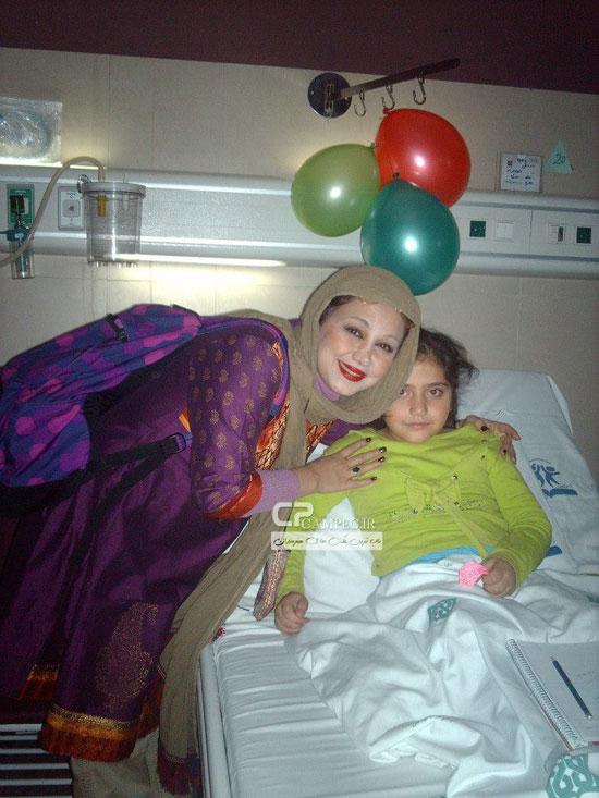 عکس های جدید بهنوش بختیاری در بیمارستان طبی کودکان