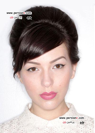آموزش مدل موی جمع برای موهای کوتاه