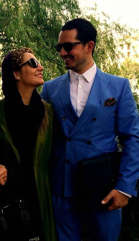 عکسی از تیپ جدید مهناز افشار و همسرش