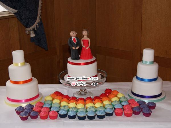 ایده های جدید و زیبا برای کیک های عروسی ! تصاویر