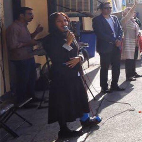 مهناز افشار در مدرسه کودکان کار ایلیا
