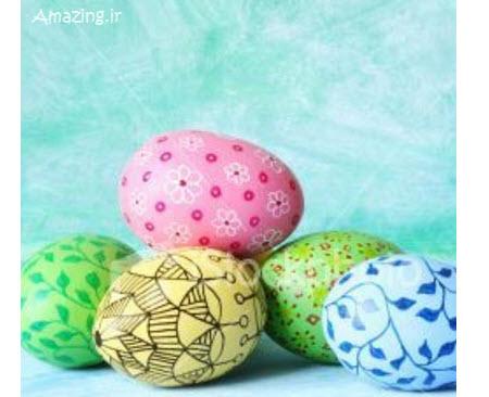تزئین فانتزی تخم مرغ برای استفاده در چیدمان سفره عید