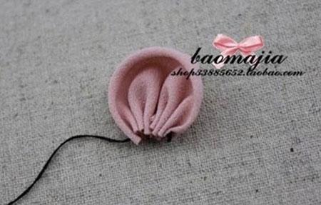 گیره مو گلدار