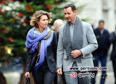 همسر بشار اسد ( زنی که کمتر از زلزله نیست )  عکس