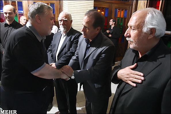 مجلس ترحیم مرحوم استاد حسن کسایی در تهران  تصاویر