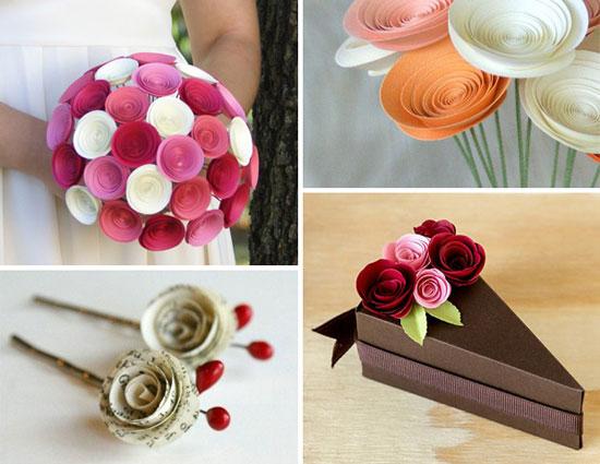 ساختن گل رز کاغذی با کمک فرزندتان