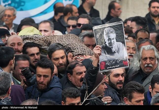 چهرهها در مراسم تشییع حسن جوهرچی