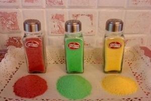 چگونه نمک رنگی درست کنیم؟ عکس