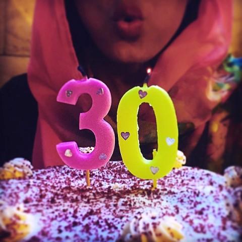 عکس پریناز ایزدیار از کیک تولد 30 سالگی اش