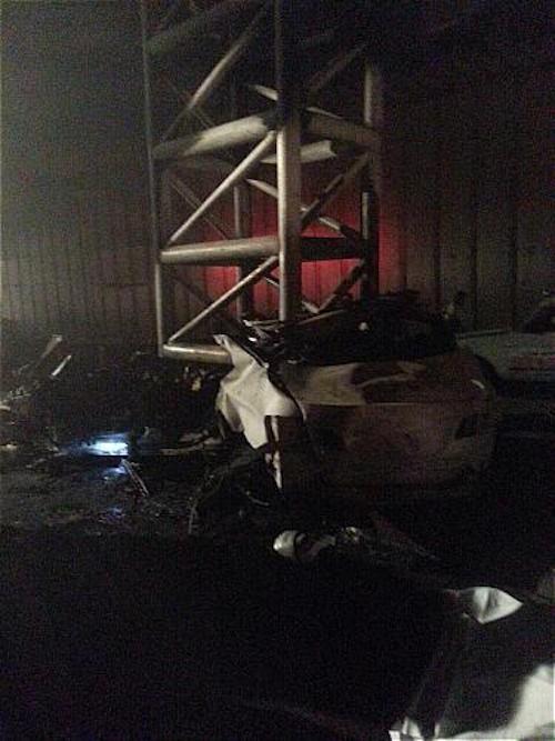 تصاویر دردناک تصادف هولناک یک BMW با پل عابرپیاده در بزرگراه نیایش