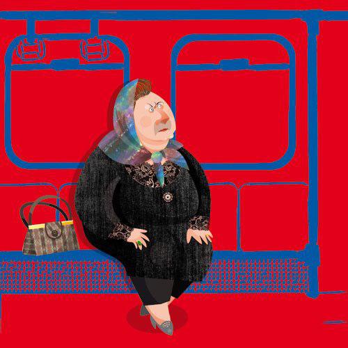 مجموعه کاریکاتورهای طنز زنان در مترو