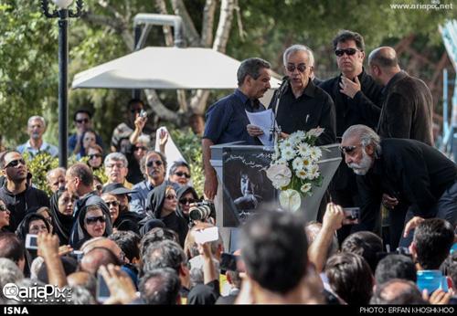مراسم تشییع پیکر مرحومه سیمین بهبهانی با حضور هنرمندان