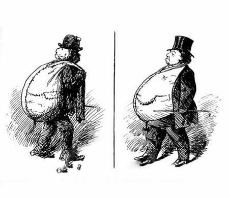 کاریکاتور غم انگیز ، تفاوت آدم پولدار و فقیر!!