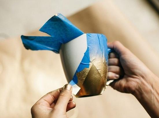 تزئین فنجان