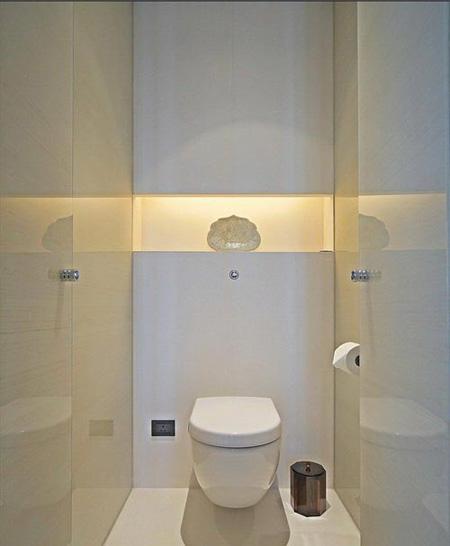 برای سرویس های بهداشتی کوچک از فلاش تانک های توکار استفاده کنید