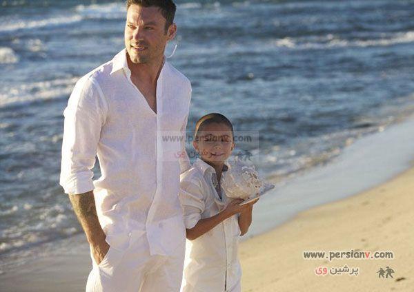 عکس : مراسم عروسی ساده ولی عاشقانه ، ستاره مشهورهالیود با مردی که یک فرزند پسر دارد