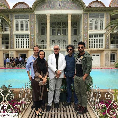 گشت و گذار روناک یونسی و همسرش در اماکن دیدنی شیراز