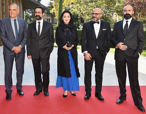 پوشش نیکی کریمی و امیر آقایی در فرش قرمز جشنواره ونیز