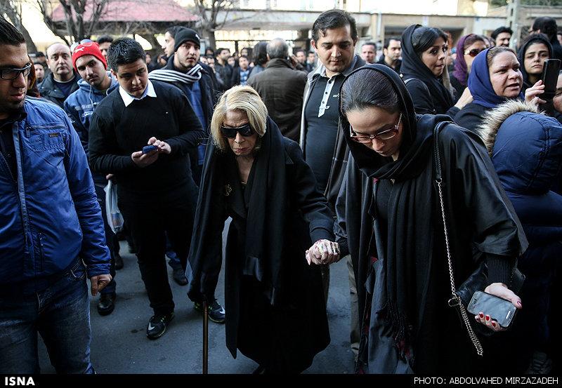 مراسم ختم نسیم حشمتی ، همسر بنیامین بهادری تصاویر