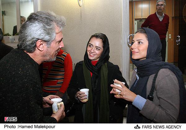 عکسهای دیدنی حضور استاد آواز ایران در جمع بازیگران سینما