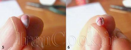 آموزش ساخت گوشواره گل چینی  تصاویر