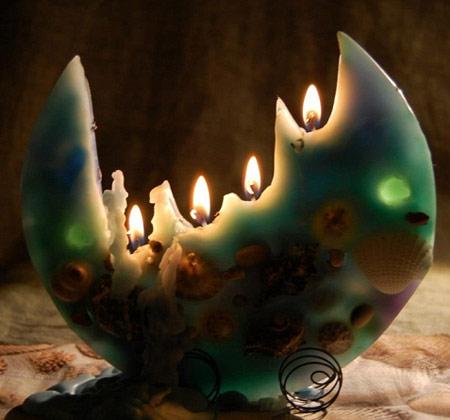 آموزش ساخت شمع تخت یا بشقابی