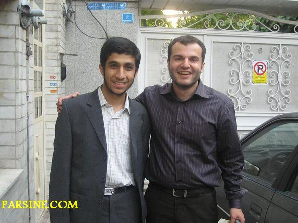 عکس: رضارحیم مشایی و علیرضا احمدی نژاد