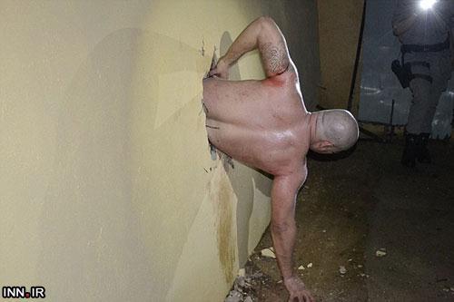 تصاویر/ گیر کردن یک زندانی در سوراخی برای فرار از زندان !