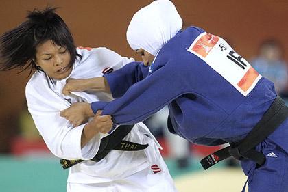تصاویر: رقابت جودوکاران زن و مرد ایرانی در گوانگجو