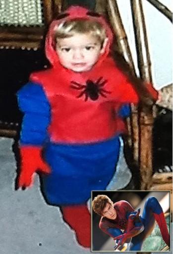وقتی «مرد عنکبوتی» سه ساله بود! عکس