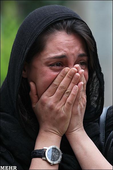 عکس : گریه واقعی هنرپیشه زن مشهور ایرانی