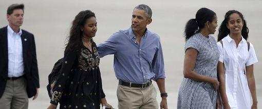 هنگامی که اوباما دختر بزرگ خود را تحویل نمی گیرد