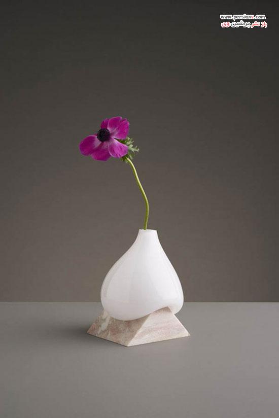 گلدان هایی با طراحی منحصر به فرد و ذوب شده