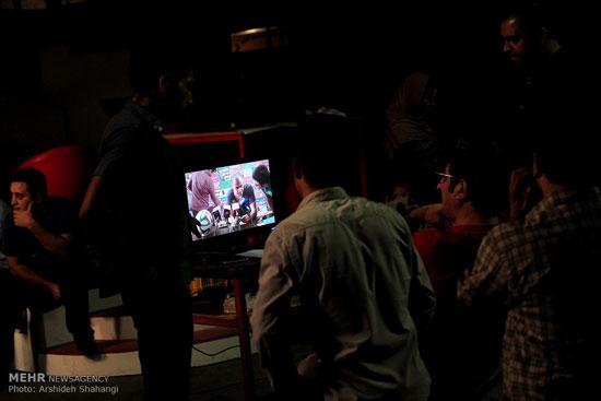 تصاویری از پشت صحنه سریال دست به نقد