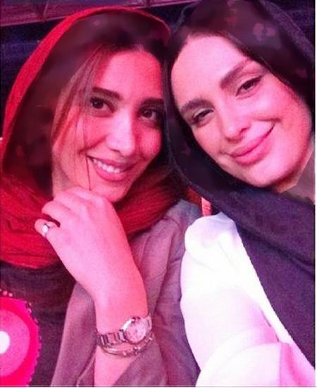 عکس یادگاری دختر مجید مظفری و همسر بابک جهانبخش