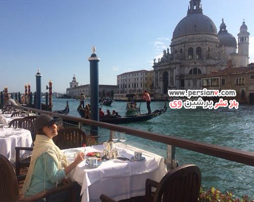 سفرنامه تصویری الناز شاکردوست از ایتالیا و ونیز در صفحه شخصی اش