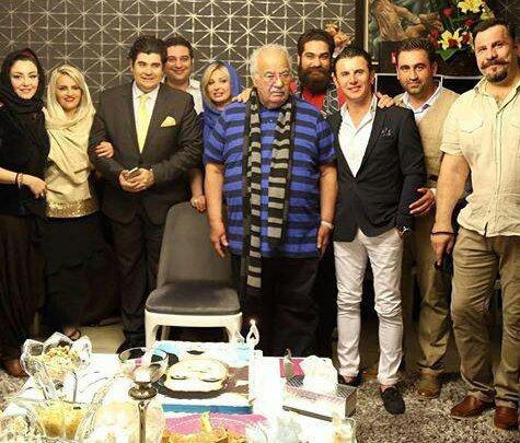 جشن تولد ناصر ملک مطیعی با حضور بازیگران مشهور