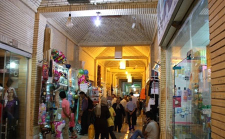 بازار صفین کیش با معماری سنتی