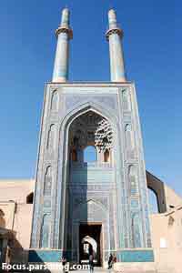 بلندترین مناره جهان درمسجد جامع یزد