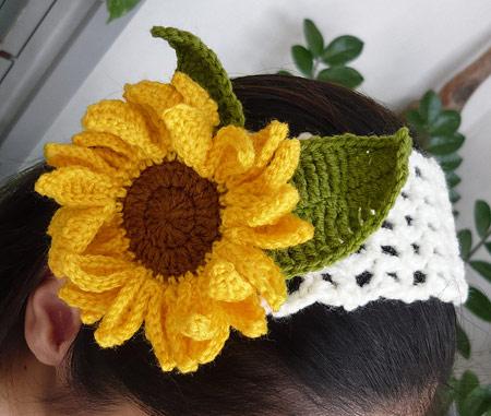 گل های آفتابگردان قلاب بافی مدل های مختلف