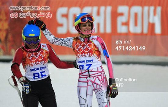 اسکیباز ایرانی در آغوش دختر برهنه