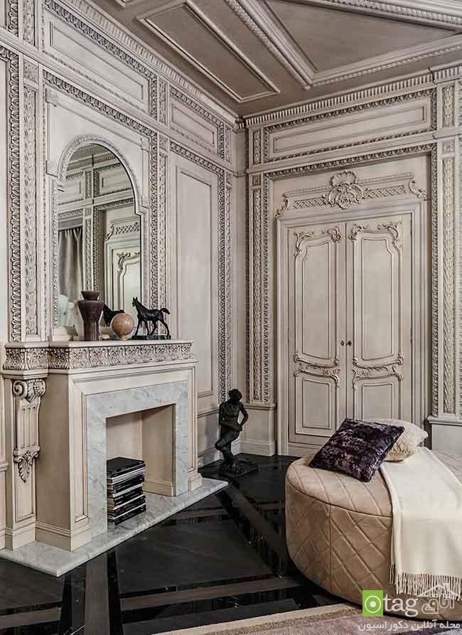 دکوراسیون داخلی لوکس یک خانه به سبک معماری نئوکلاسیک قرن 18