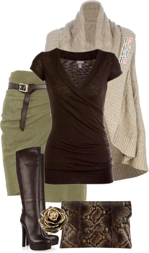 12 ست شیک و گرم با انواع لباس های بافت