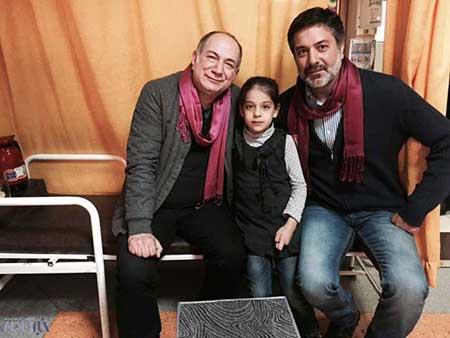 آتیلا پسیانی، بهاره رهنما ، سحر دولتشاهی به عید دیدنی کودکان رفتند