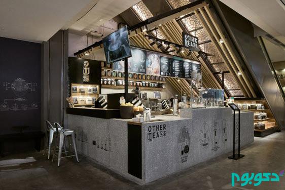 دکوراسیون داخلی صمیمانه و گرم کافه ای کوچک در شانگهای چین