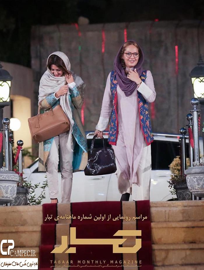 از مهناز افشار و لیندا کیانی تا شقایق دهقان و همسرش در مراسم رونمایی از ماهنامه تبار