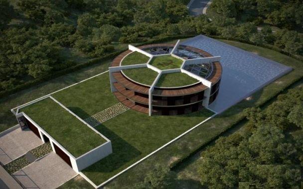 خانه فوق مدرن لیونل مسی به شکل توپ فوتبال