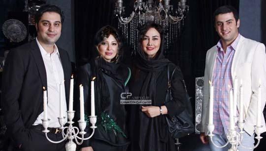 علی ضیا در کنار خانم های بازیگر